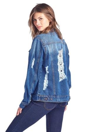 Image of Distressed Denim Jacket