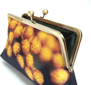 Image of Yellow flower pod clutch bag