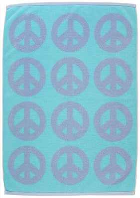 Image of Mini Peace Towel <div> Lt Blue & Ocean Blue</div>