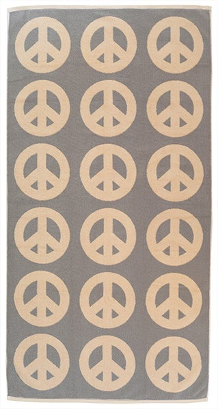 Image of Large Peace Towel <div> Cream & Champagne</div>