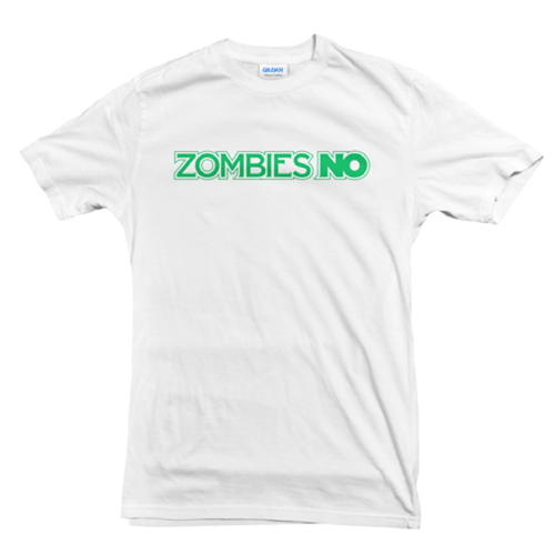 Image of Zombies No Classic Logo Green on White