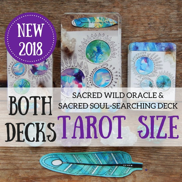 Image of NEW, the TAROT SIZE- Sacred Wild & Soul-Searching Oracle