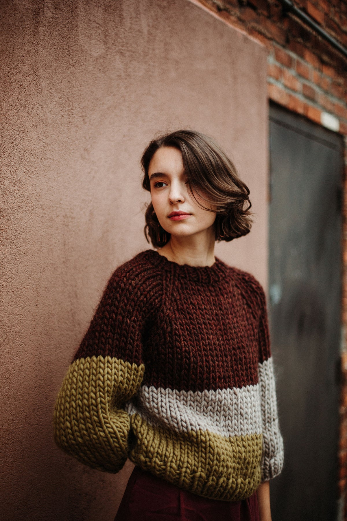 Image of READY MADE Kingston Sweater Limited (Corodovan, Lichen & Fawn)