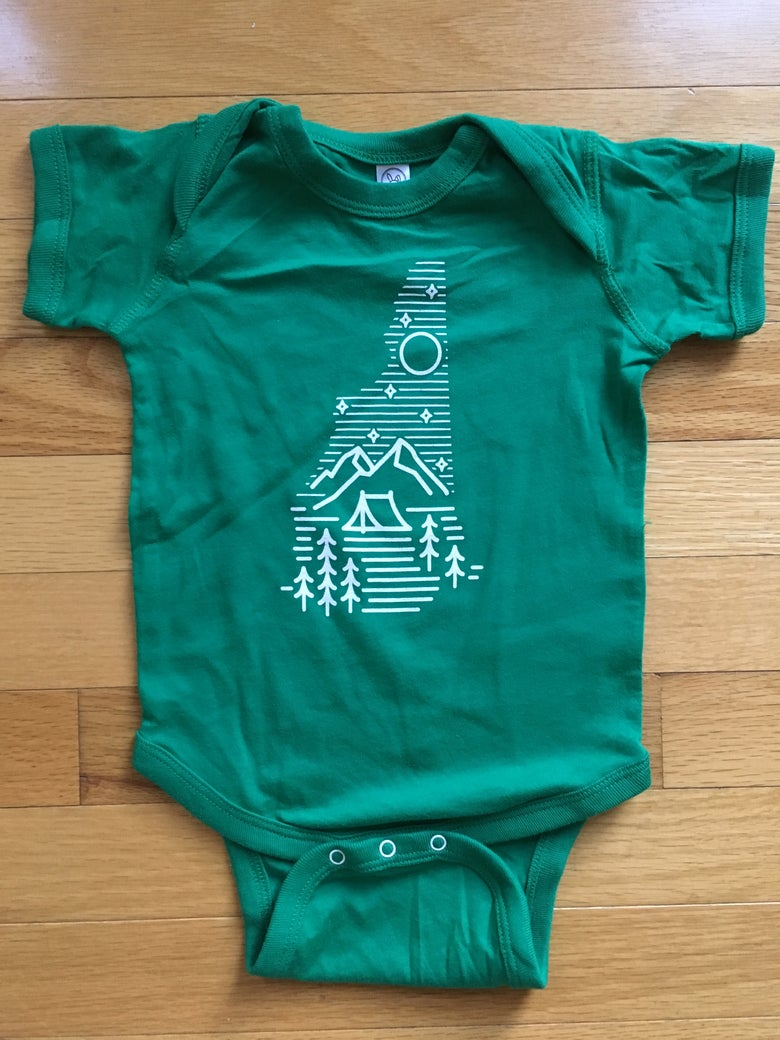 Image of Baby Onesie - camping logo
