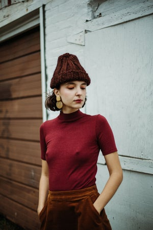 Image of Siska Toque (shown in Cordovan + more colours)
