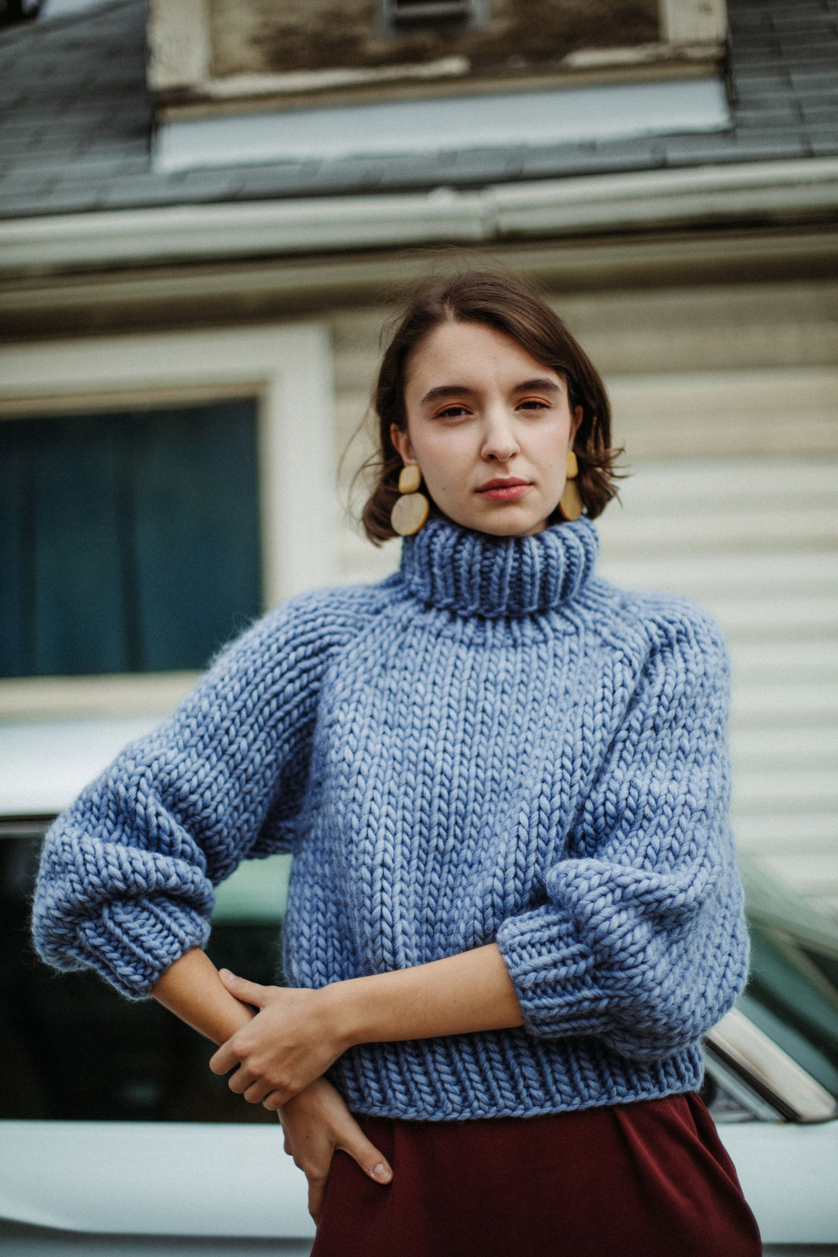 Image of READY MADE Moosonee Sweater (shown in Stonewashed Denim)