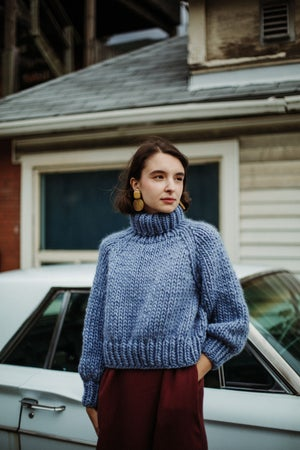 Image of Moosonee Sweater (shown in Stonewashed Denim)