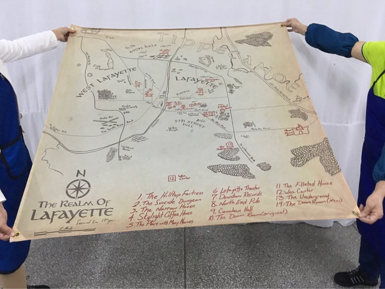 Image of The Legend of Lafayette Metal Wall Flag