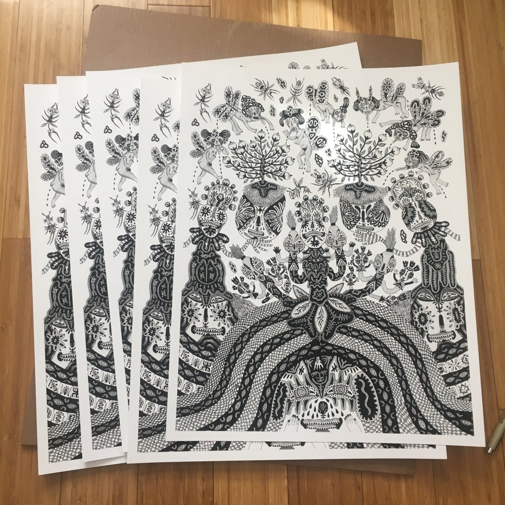 Image of Clown Flowers print