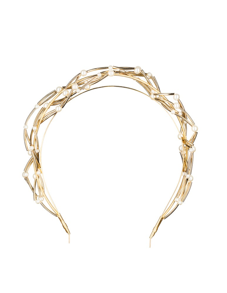 Image of TWISTED PEARL AND GOLD CROWN