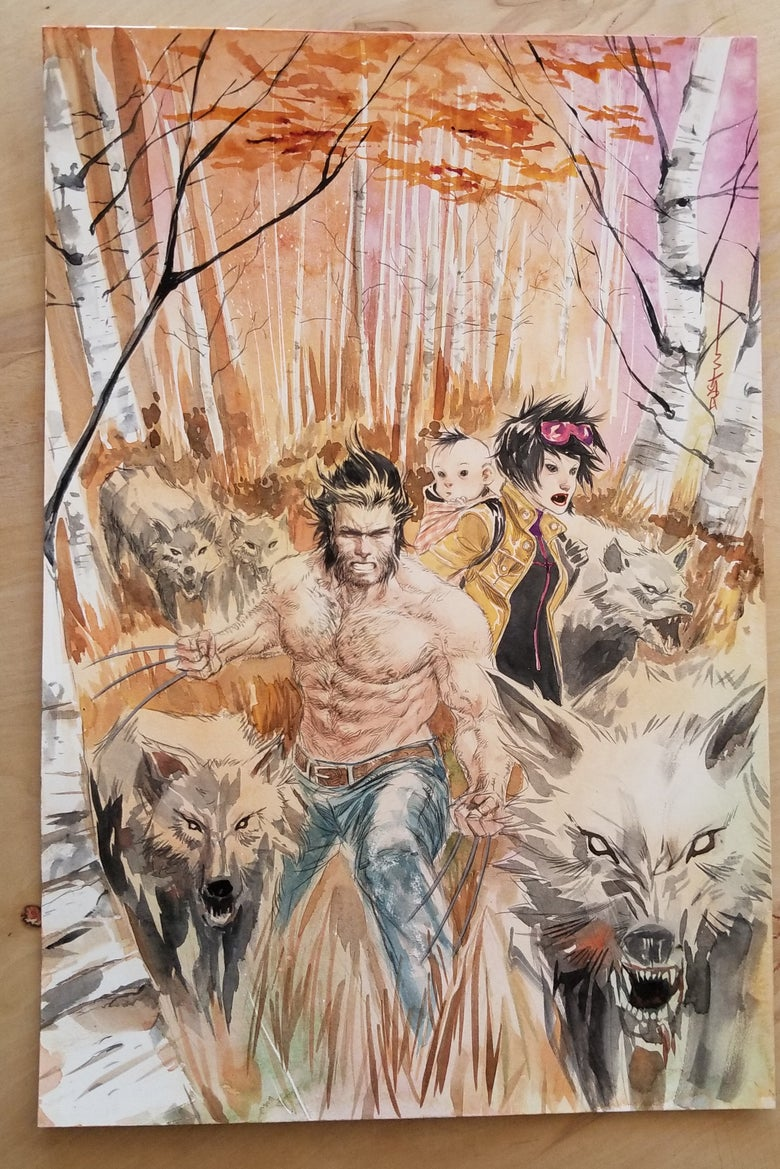 Image of Wolverine Annual #1 original cover art