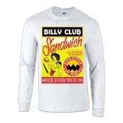 "Image of BILLY CLUB SANDWICH ""Adobo"" White Long Sleeve T-Shirt"