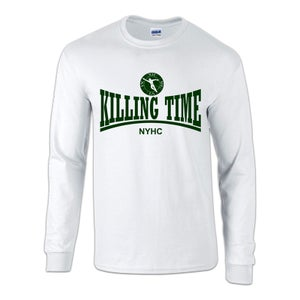 "Image of KILLING TIME ""NYHC"" White Long Sleeve T-Shirt"