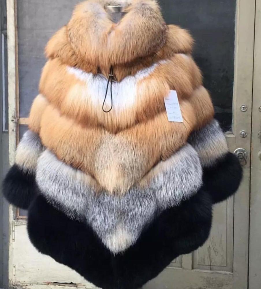 Image of Fox Fur Poncho