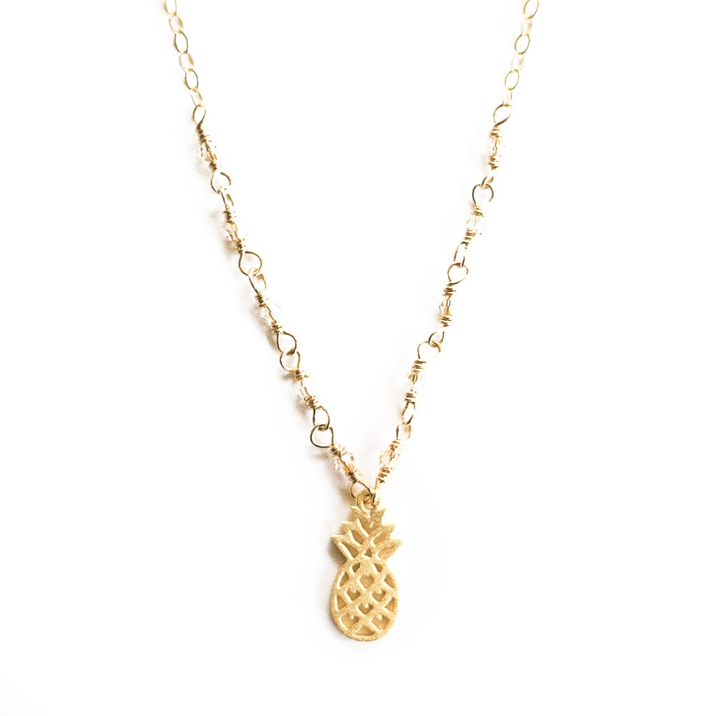 Image of Pineapple necklace gold-plated sterling silver 14kt gold-filled chain