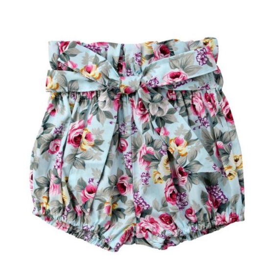 Image of High Waisted Shorts - Floral