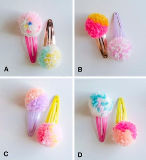 Image of Pompom hair clips