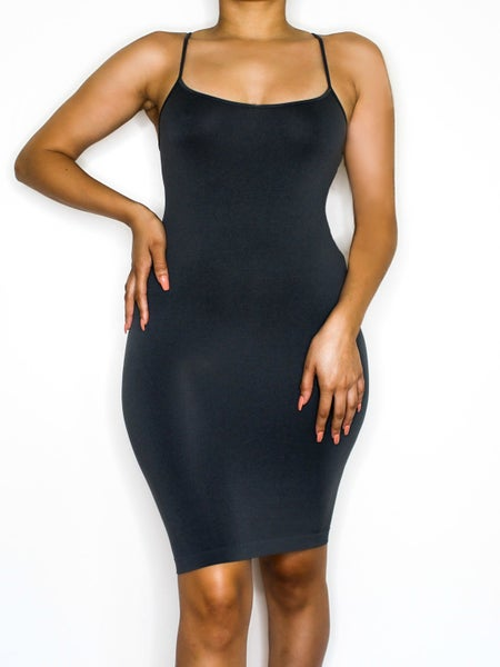 Image of the barely there dress - charcoal