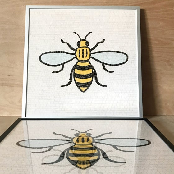 Image of Manchester Bee Framed Art Print by fingsMCR