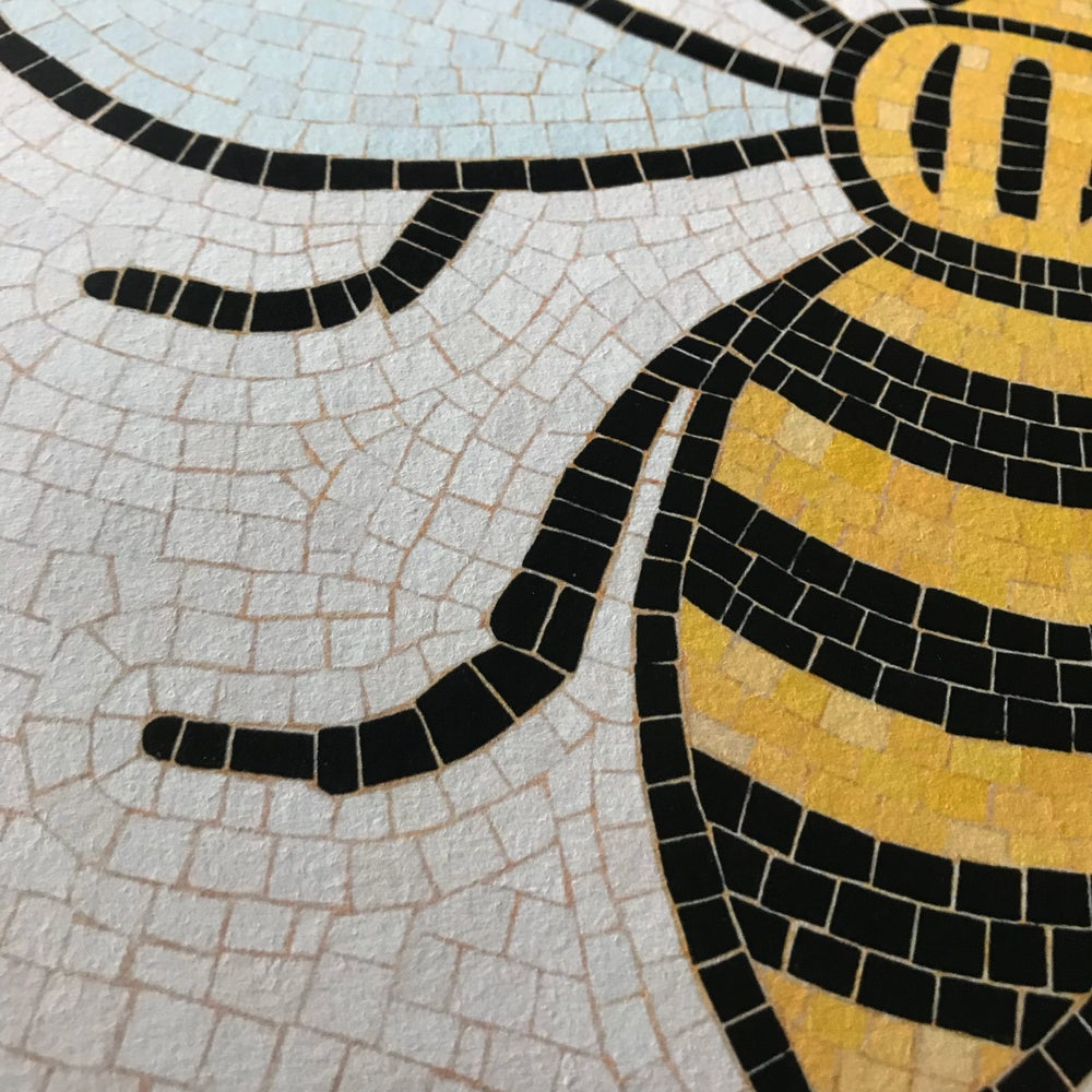 Image of Manchester Bee Framed Art Print 1st Edition by fingsMCR