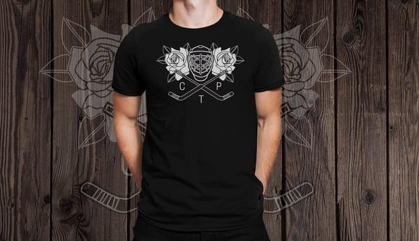 Image of Large print Goalie Rose shirt