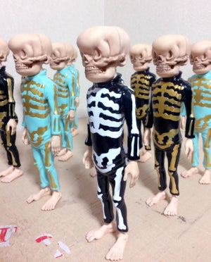 Image of Bone Trotters Art Figure Teal and Gold Edition by Matt Gordon
