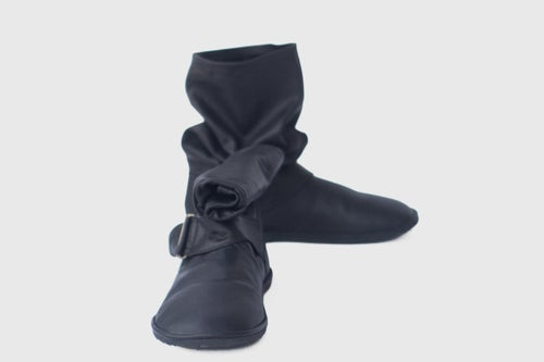 Image of Slouchy boots in Soft Matte Black