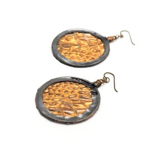 Image of Snake Shed Hoop Earrings