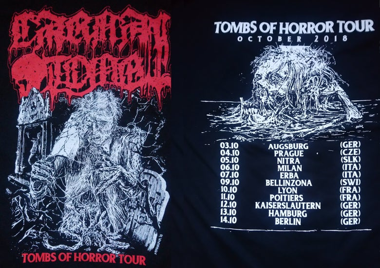 Image of Tombs of Horror Tour 2018 Shirt