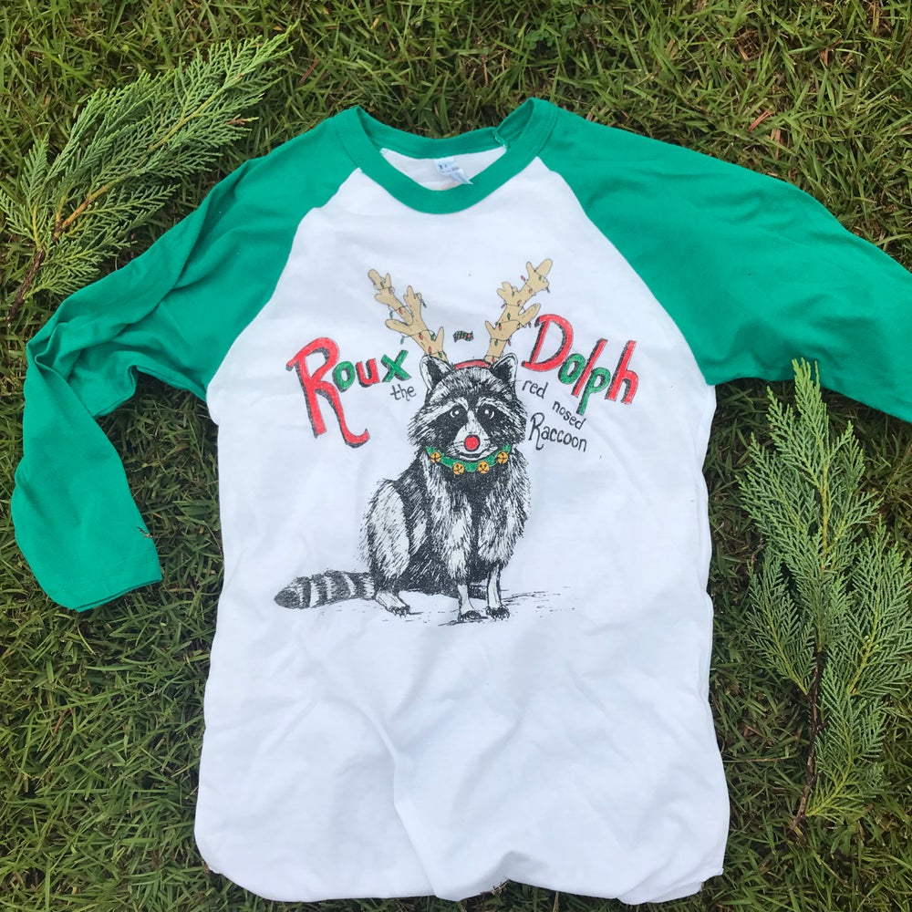 Image of Adult Roux-Dolph Raglan in Kelly Green