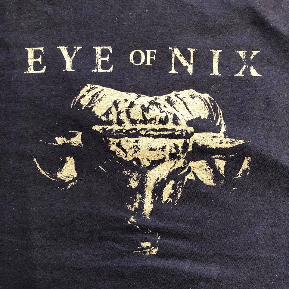 Image of Eye of Nix limited T-shirt with gold ram design XL only