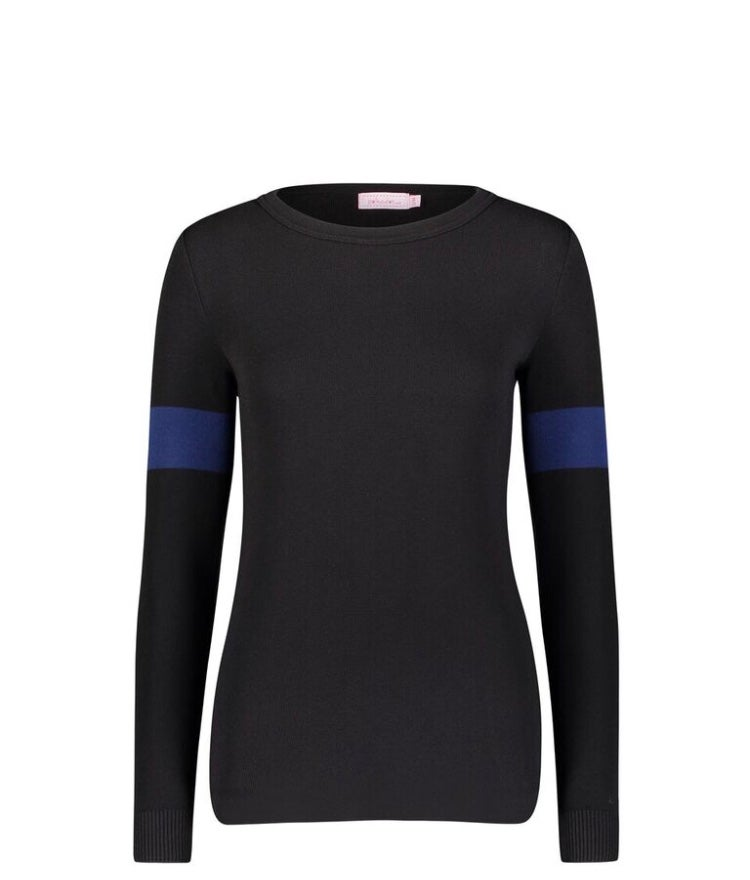 Image of BLACK/NAVY Sophia top