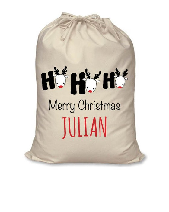 Image of Personalised Christmas Santa Sack - Ho Ho Ho