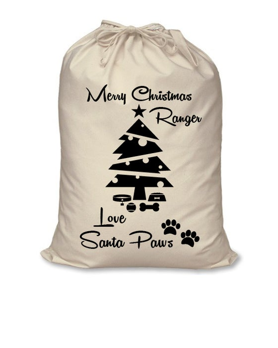 Image of Personalised Christmas Santa Sack - Santa Paws