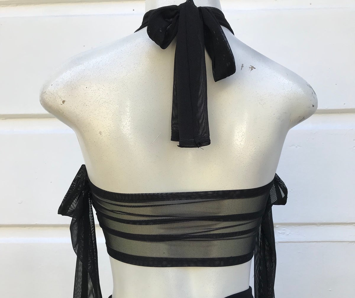 Image of MESH HALTER TOP (entirely see through)