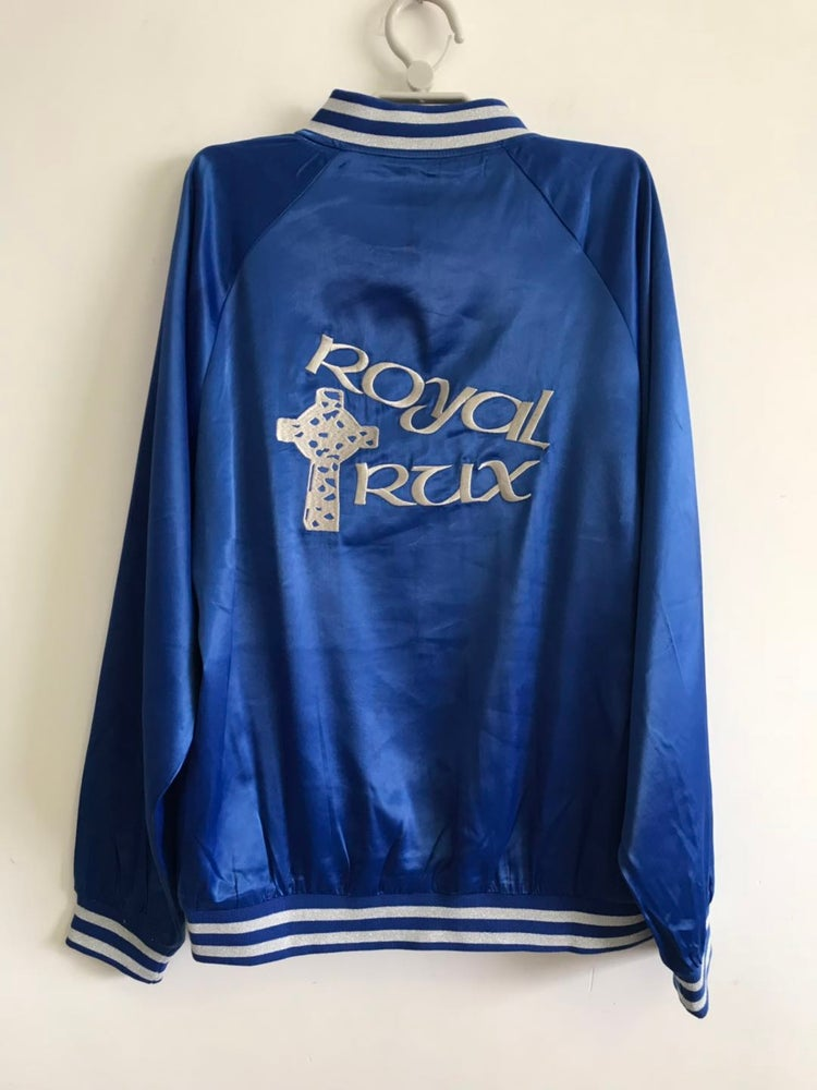 "Image of ROYAL Blue Fergadelic ROYAL TRUX ""satin"" TOUR JACKET"