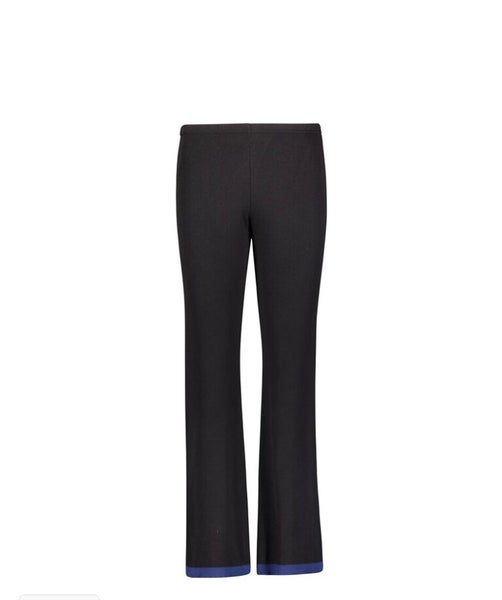 Image of Black lounge pant with navy border