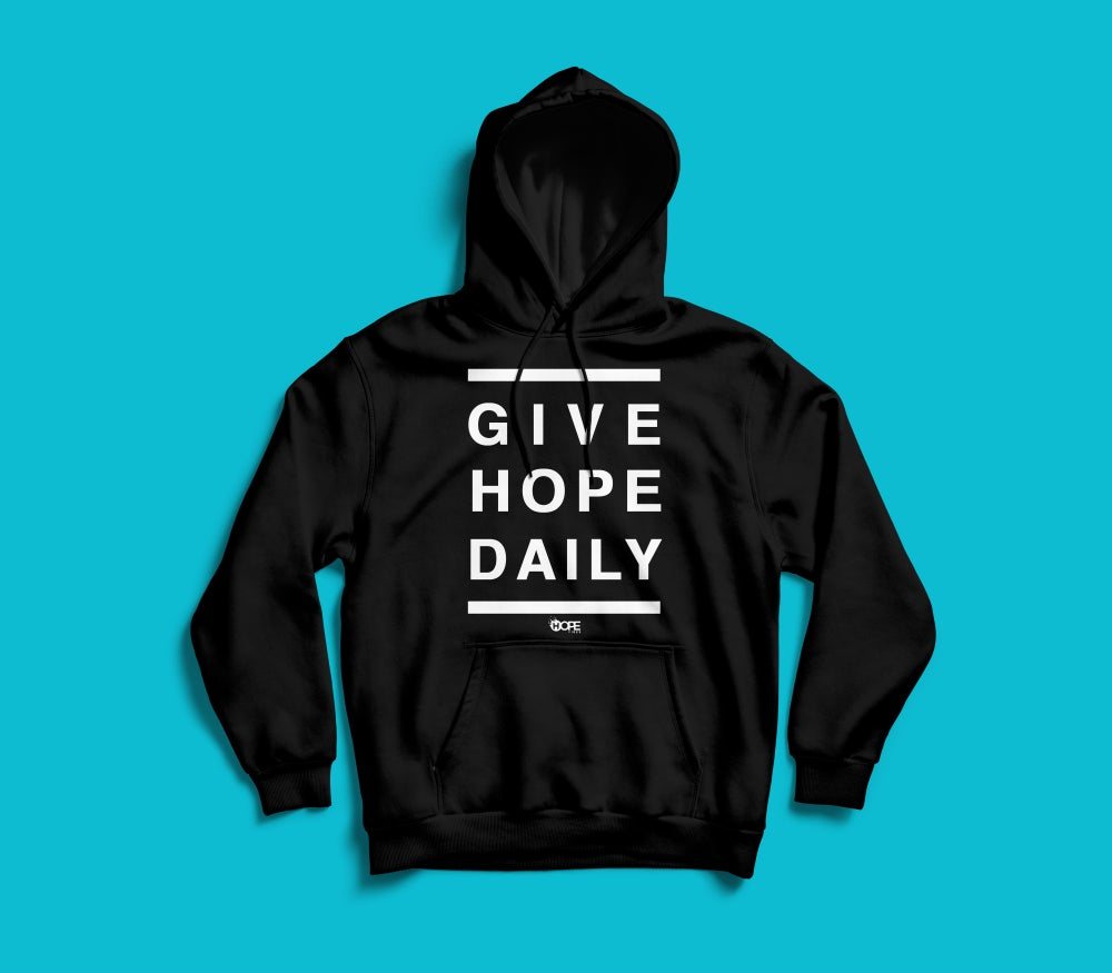 Image of Give Hope Daily Hoodie // Black & White