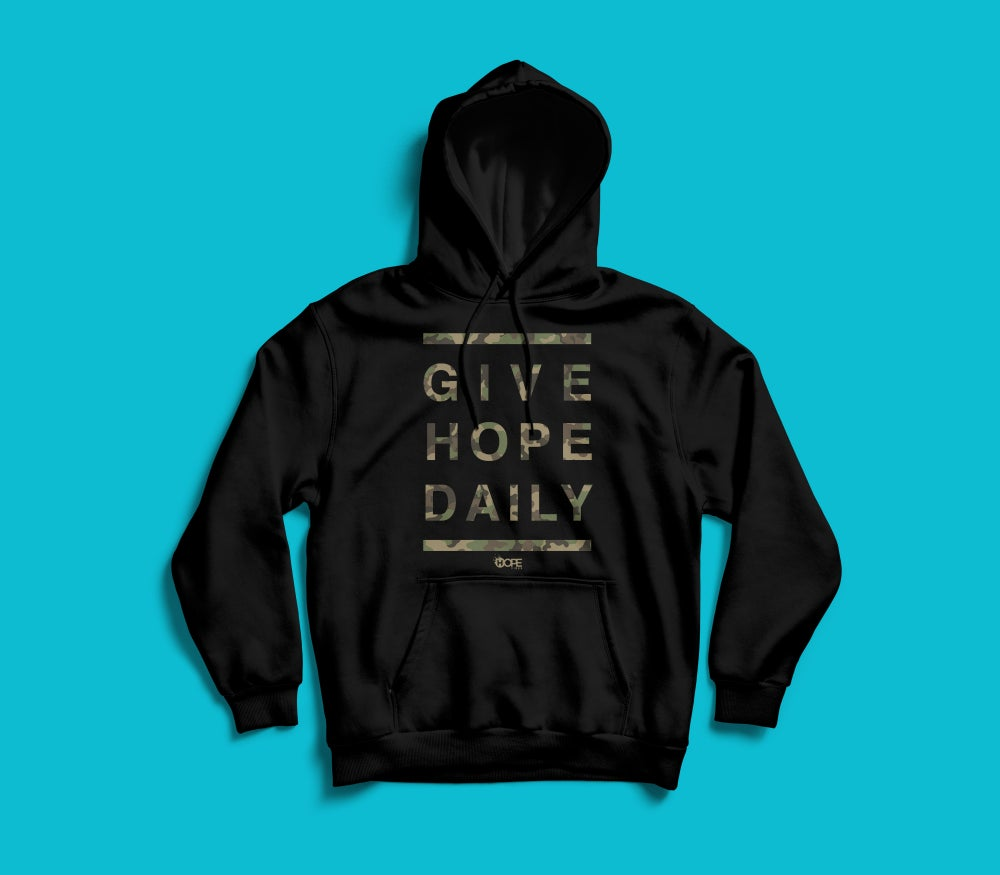 Image of Give Hope Daily Hoodie // Camo