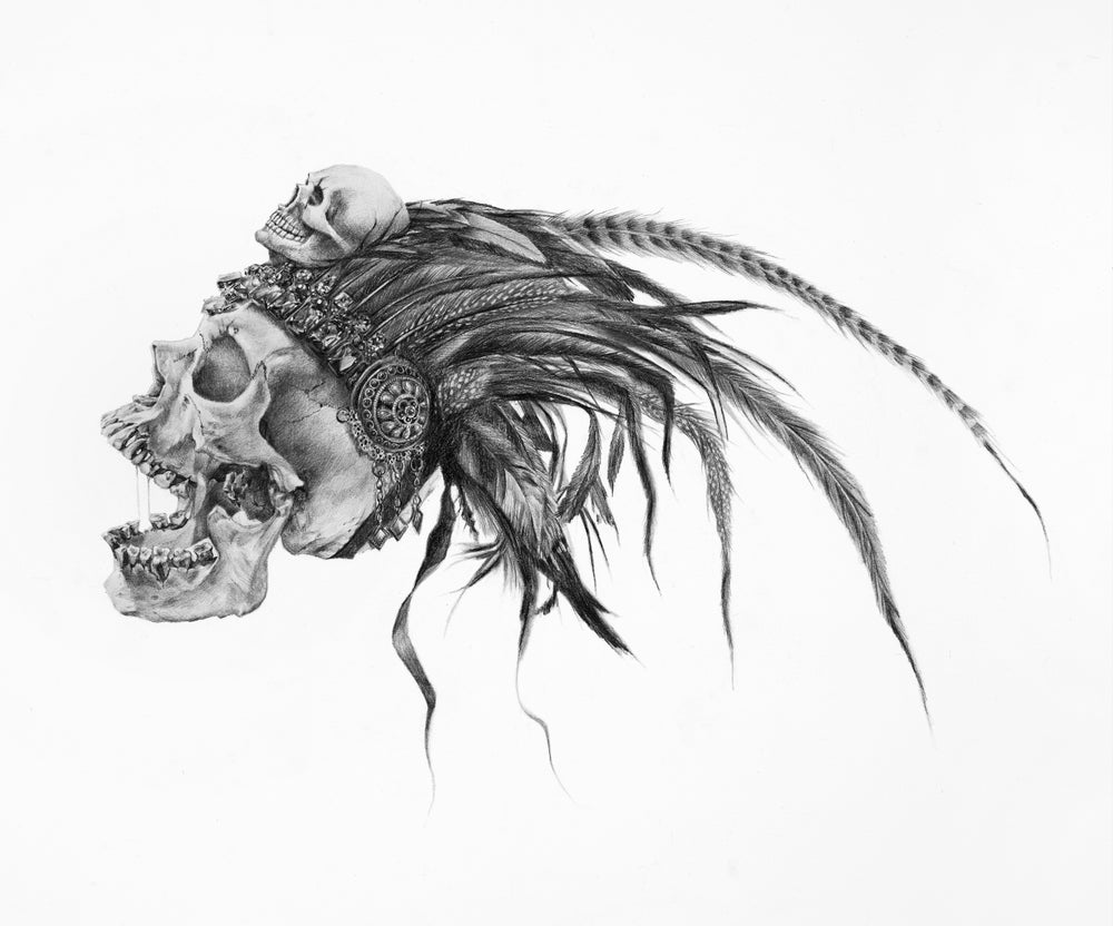 Image of Azteca original graphite drawing