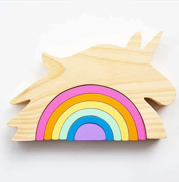Image of Unicorn Rainbow Stacker