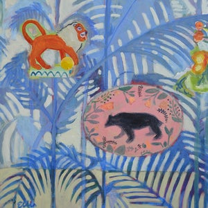 Image of Contemporary Still Life Painting, 'Lions and tigers and bears, oh my!' Poppy Ellis