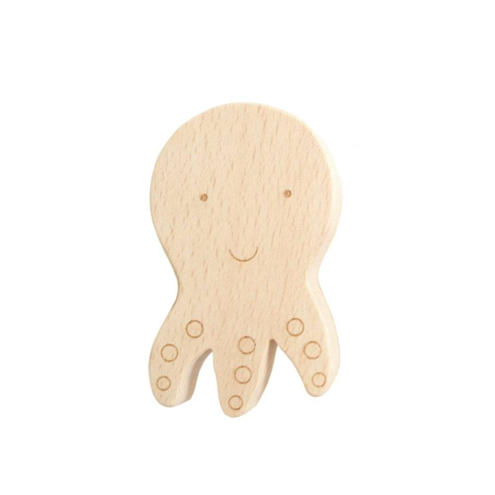 Image of Patère Pieuvre en bois de hêtre
