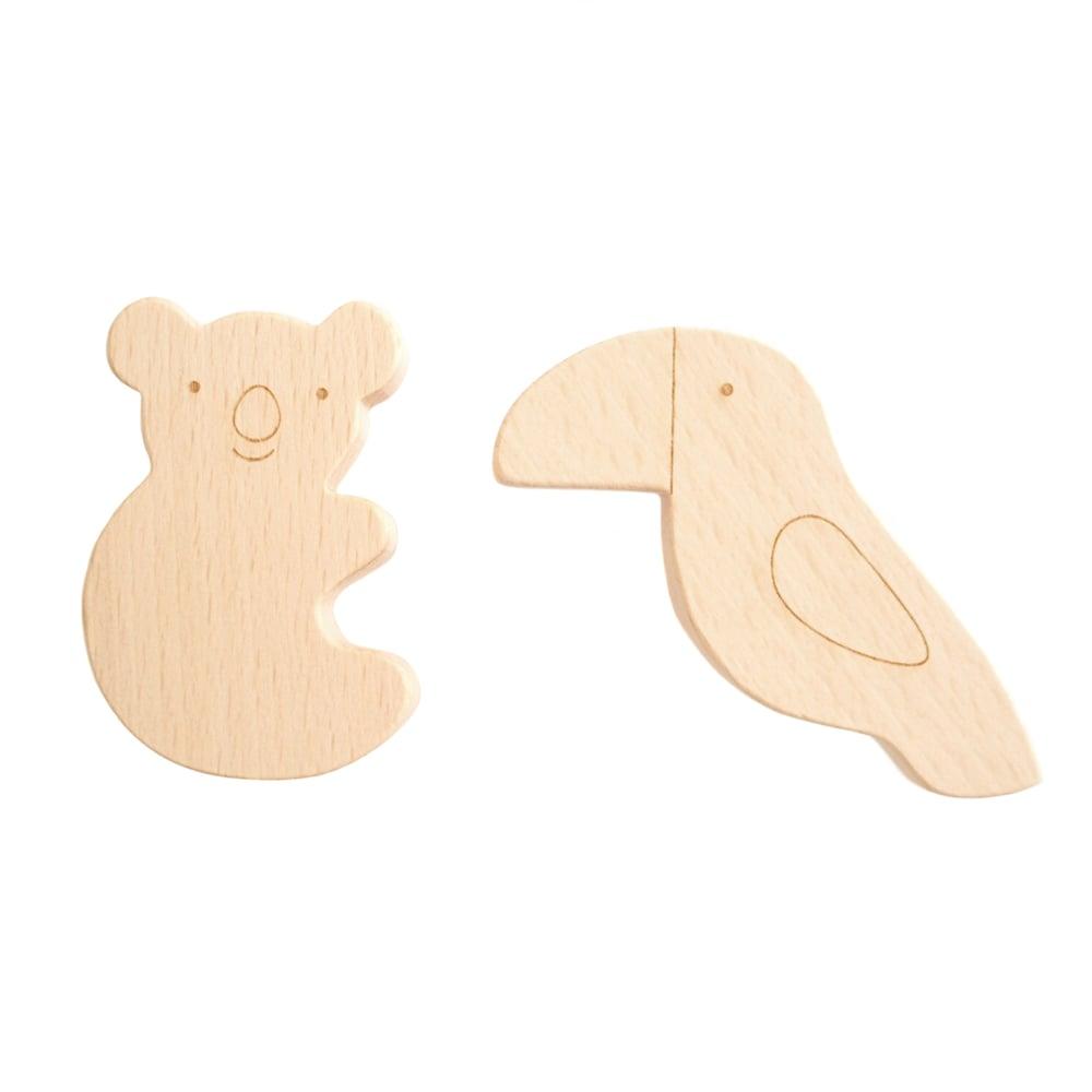 Image of Duo Tropical en bois de hêtre