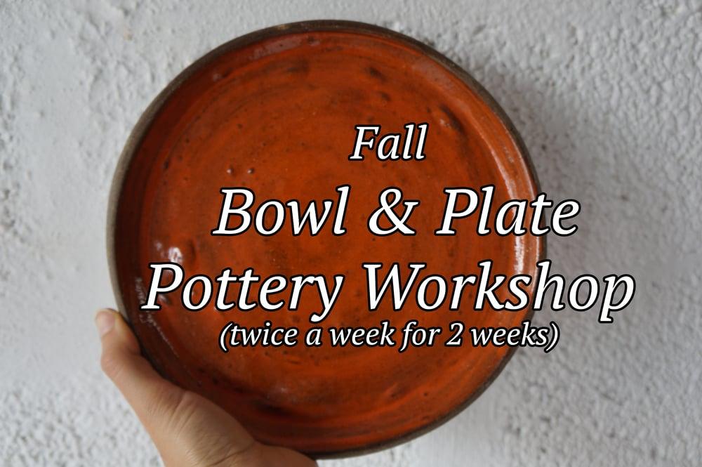 Image of Bowl & Plate Pottery Workshop Starts Nov.7