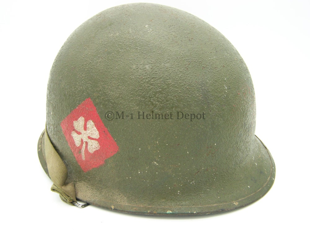 Image of 4th Army painted M-1 helmet