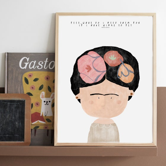 Image of GREAT PEOPLE LIKE FRIDA ILLUSTRATION