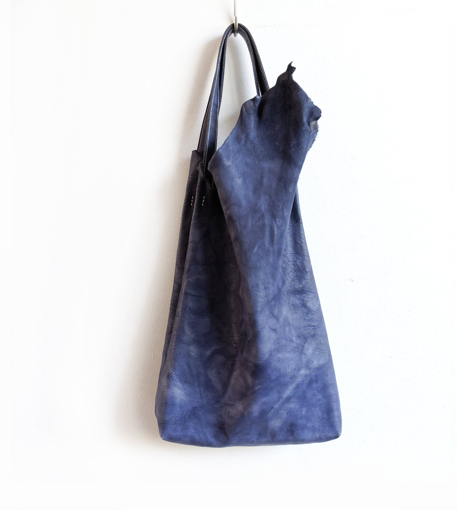 Image of De Blauwe Tulp - The Blue Tulip - Leather Shopper