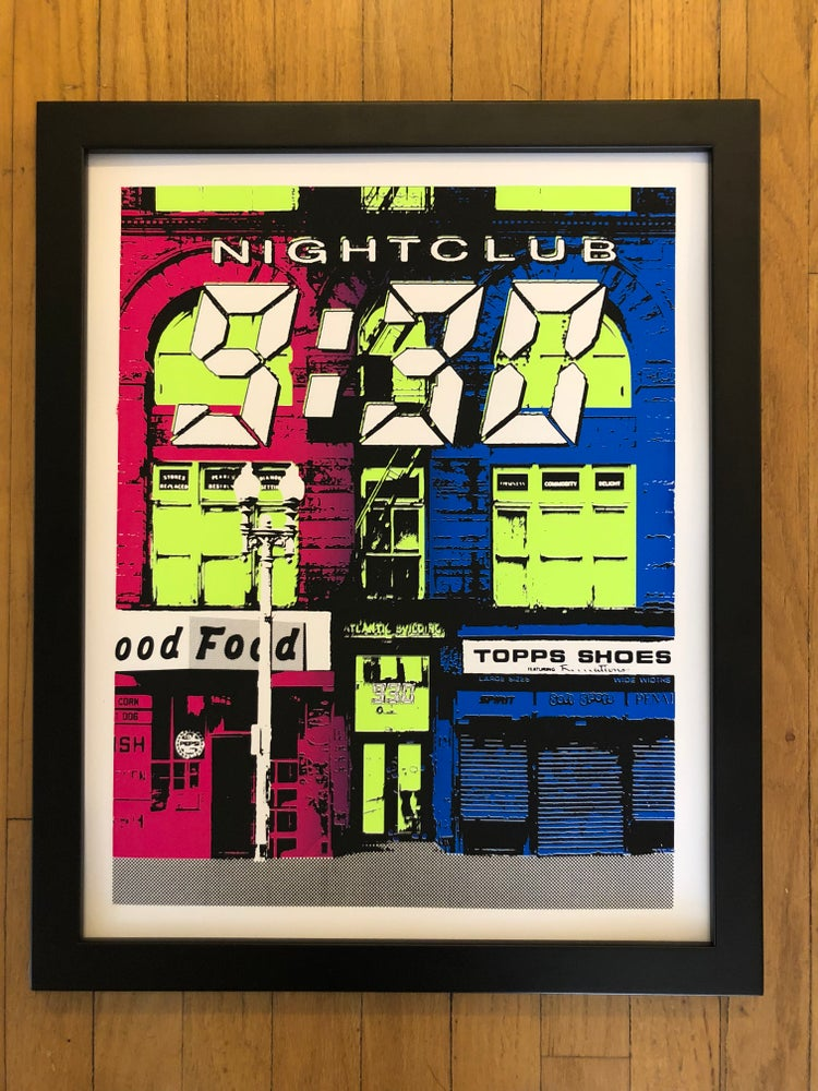 Image of Nightclub 9:30 Silk Screened Art Print - Neon Edition