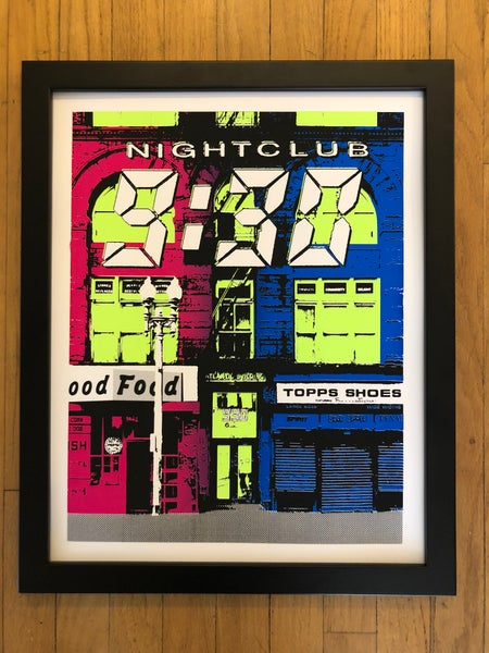 Image of Nightclub 9:30 Silk Screened Art Print Poster - Neon Edition